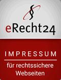 Siegel eRecht24 - Impressum für rechtssichere Websiten